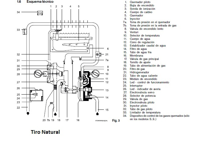 Calentador de gas junkers 11 l interior wr11 2b - Generador electrico a gas butano ...