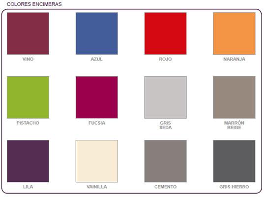 Colores fregaderos Syan